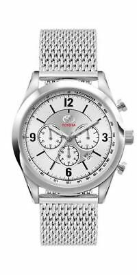 Genuine OEM Toyota Mens Silver Chronograph Tachymeter Watch with Metal Strap