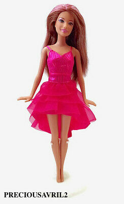 New Barbie doll clothes outfit evening short dress gown Pink cocktail