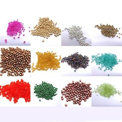 100 Beads 3mm Authentic Czech Glass Faceted Round Fire Polished Beads UK Stock