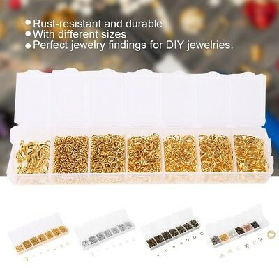 1500Pcs/Box Open Jump Ring Gold Silver Split Rings Connectors Jewelry DIY Making
