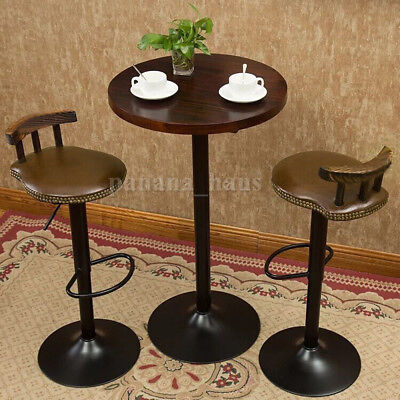 Industrial Vintage Rustic Retro Swivel Counter Bar Stool Cafe Chair