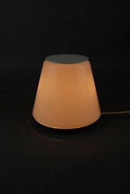 Italian 1960s Metal & Perspex Table Lamp Modernist Space Age G.Stoppino 70s Era