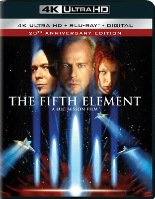 The Fifth Element (2 Disc With Blu-ray 20th Anniversary) 4K ULTRA HD BLU-RAY NEW