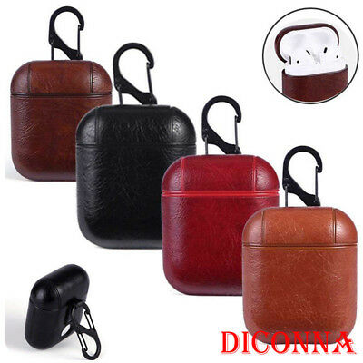 Genuine Leather Airpods Earphone Protective Case Skin Cover For Apple AirPod USA