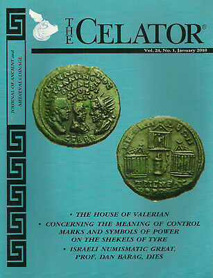"""""""the Celator"""" 2010 4 Issues Journal Of Ancient And Medieval Coinage Vg+"""