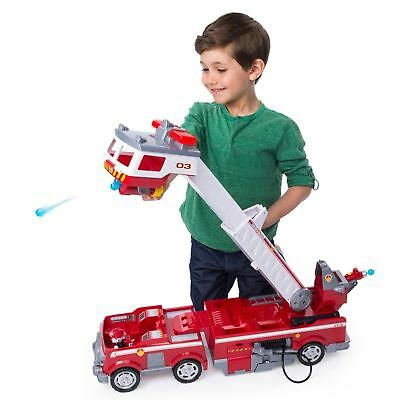 Paw Patrol Ultimate Fire Truck Rescue Playset Kids Toy Boys Girls Marshall New