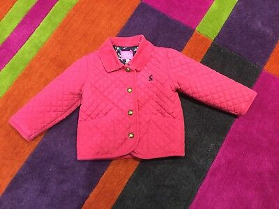e39a6aafe JOULES BABY MABEL- Baby Girls Quilted Jacket- Deep Pink - Age 12 18 ...