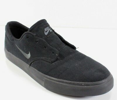 e70a4bdf8cd7 Nike Men s SB Clutch Black Black Canvas Sneakers Shoes 729825-005 Sz 10.5 M  NWOB