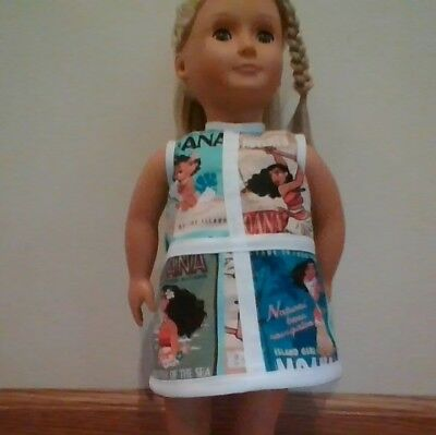 New Generation Doll Clothes Moana Shift Dress Fits 18In Doll