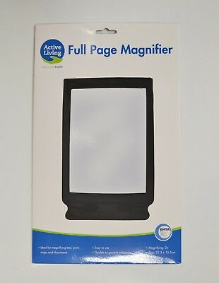 Full Page Magnifier Sheet Flexible Easy to Use