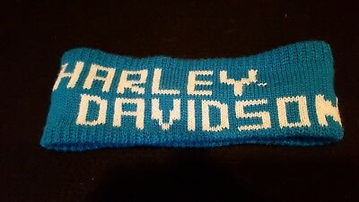 Harley Davidson Headband Turquoise And White Womens One Size Fits All