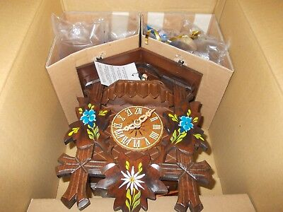 New Black Forest Hand Painted  Musical Cuckoo Clock with Dancers