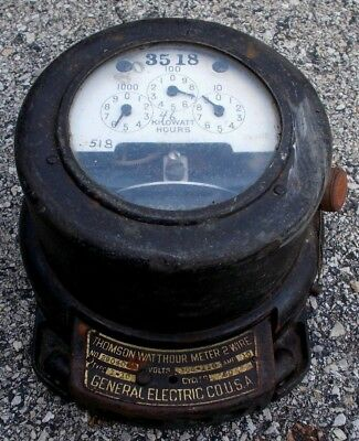 Vintage General Electric Thomson Watthour Meter Type I-10 Two Wire Steampunk