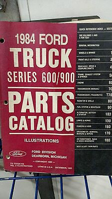 Ford 1984 truck series 600/900 parts catalog volume 3