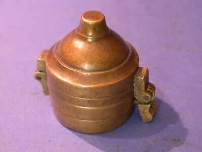 bg553,Bechergewicht,Gewicht,nested cup,weight,scale,waage,brass,messing, Polen
