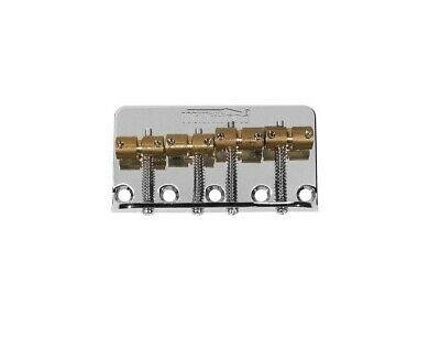 Wilkinson P-Bass/Jazz Bass bridge, Brass Saddles (Black)