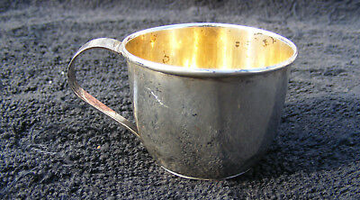 Vintage Web Sterling Silver Baby Cup with Gold Wash Inside No Monogram