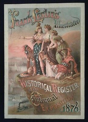 1876 Centennial Exposition Print - Leslie's Historical Register Title Page