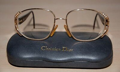 fc0796e268cc Christian Dior Lades Glasses Frame Gold Brown Vintage Retro  Used With Case