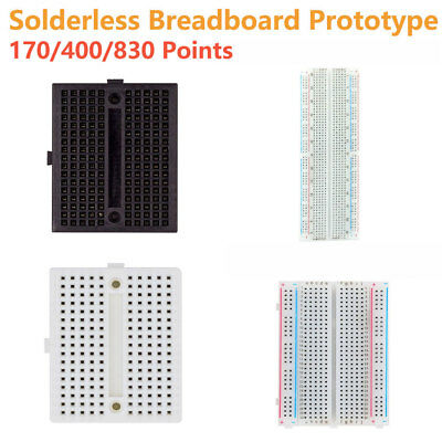 Solderless Prototype PCB Breadboard 170 400 830 Points Black White Color NEW