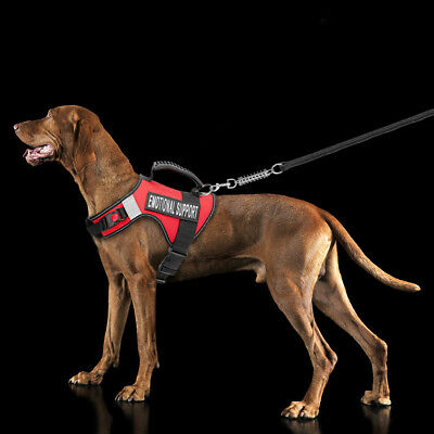 ESA Service Dog Harness Reflective Large Dogs Vest Emotional Support Patches Red