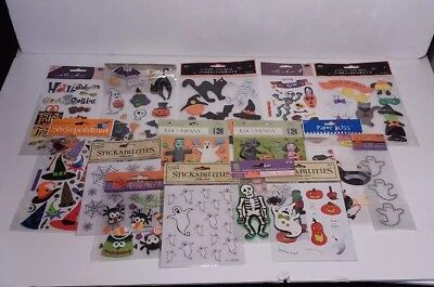 JOLEE/'S BOUTIQUE HAPPY HALLOWEEN BANNER KIT BLACK SILVER SKULLS DECORATION A5922
