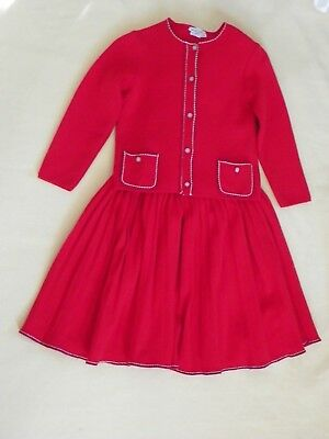 Child's 6X  Nieman Marcus Red Knit Sweater and Skirt Set