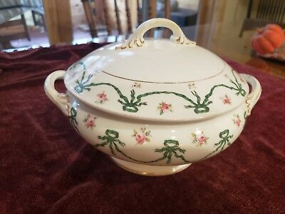 Coalport A.D. 1750 Tureen-French Ribbon and Rose pattern