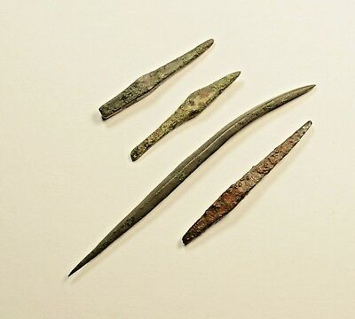 SUPERB LOT OF 4 Ancient Greek Scythian Arrow Heads Bronze & Iron 5th c BC