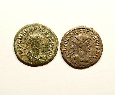Lot Of 2 Ancient Roman Imperial Coins - Probus & Diocletian