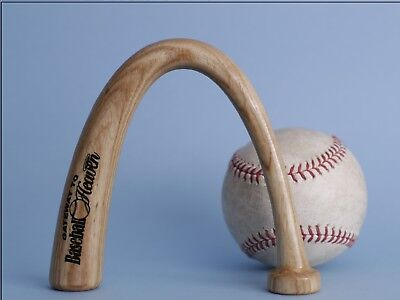 Unique Wood-Carved Baseball Arch Bat Collectible Sculpture Art for Display