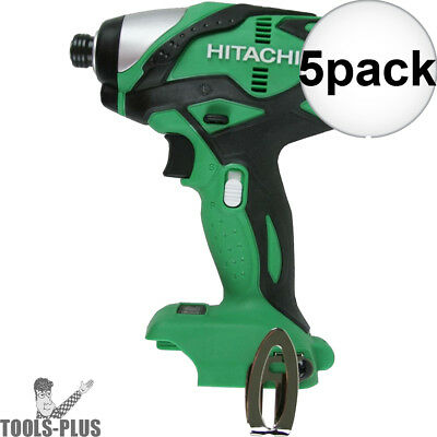 "Hitachi WH18DSDLP4 18V Cordless Lith-Ion 1/4"" Impact Driver (Tool Only) 5x New"