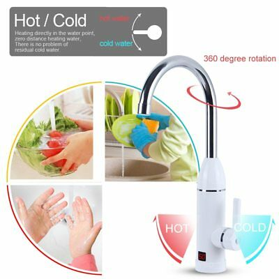 3000W Kitchen Instant Water Heater Faucet Electric Tankless Water Heater Digital