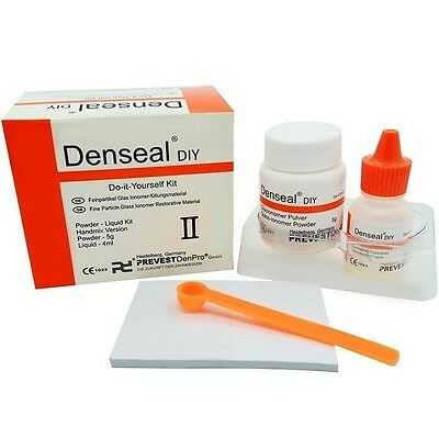 Denseal Permanent Tooth Fix Filling White Dentist Cement High Strength Yourself