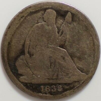 1838-O Seated Liberty Dime VG