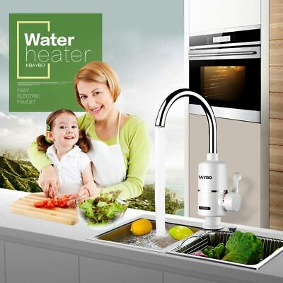 3000W Tankless Electric Water Heater Kitchen  Instant Hot Water Tap Heater (EE)