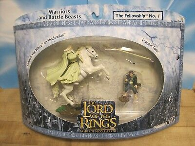 Aome Toybiz Lord Of The Rings Lotr Gandalf Pippin Knight Plastic Toy Soldiers