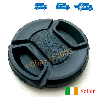52mm Lens Cap Snap Front Center Pinch For Nikon, Canon lenses