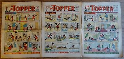 THREE CONSECUTIVE TOPPER COMICS No.390, 391, 392. JULY AUG 1960. EARLY EDITIONS.