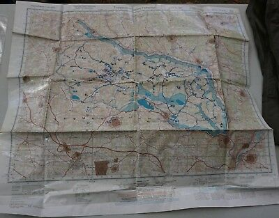 MAP of US Army Training Center, Hohenfels, Germany 1:50,000 1987 (Loc= H4 front)