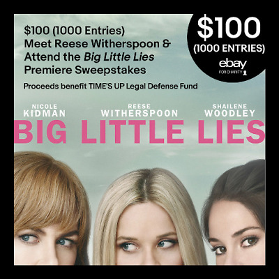 $100 (1000 Entries) Meet Reese Witherspoon & Attend Big Little Lies