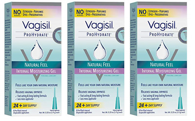 Vagisil Prohydrate Natural Feel Internal Vaginal Gel & Lubricant, 24 Applicators