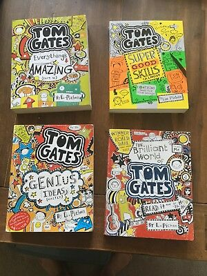 Tom Gates Books - 4 books - Great Collection & Christmas Presnet