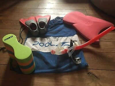 Competitive Swimming Fins, Float, Pull Boy, Snorkel and kit Bag Speedo, Maru