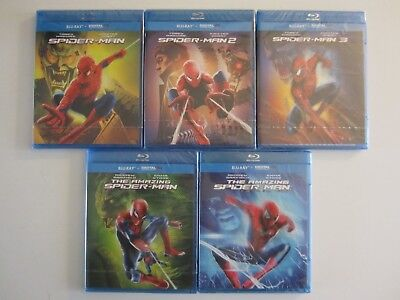 Lot 5 Coffret Blu - Ray The Amazing 1 2 Spider-Man 1 2 3 Fr Vf Neuf Sous Blister