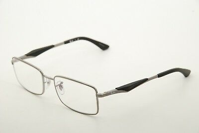 a0a02514f53 New Authentic Ray Ban RB 6284 2502 Silver Black 55mm Eyeglasses Frames RX