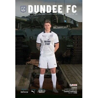 DUNDEE v RANGERS 9/12/2018 OFFICIAL PROGRAMME