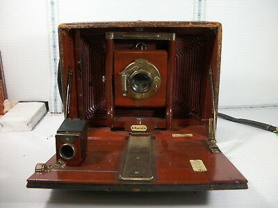 vintage Seneca Mfg . Co  Rochester ny. wooden box leather covered camera Special
