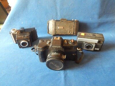 4X Old Cameras Bellows Nippon Etc... S/R