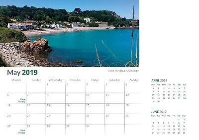 2019 Desktop Calendar with wild and scenic images of Jersey, 80% off SALE